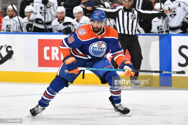 Jujhar Khaira of the Edmonton Oilers skates during the game against the Los Angeles Kings on November 29 2018 at Rogers Place in Edmonton Alberta...
