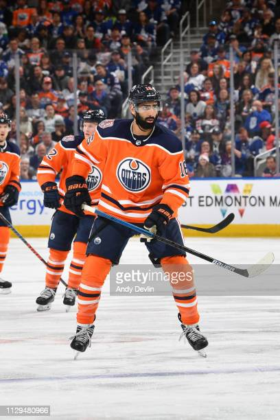 Jujhar Khaira of the Edmonton Oilers skates during the game against the Toronto Maple Leafs on March 9 2019 at Rogers Place in Edmonton Alberta Canada