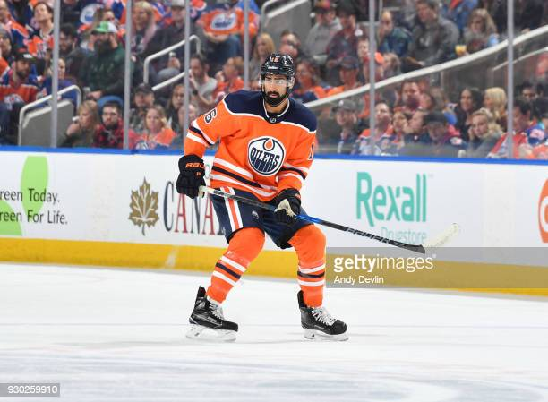 Jujhar Khaira of the Edmonton Oilers skates during the game against the Minnesota Wild on March 10 2018 at Rogers Place in Edmonton Alberta Canada