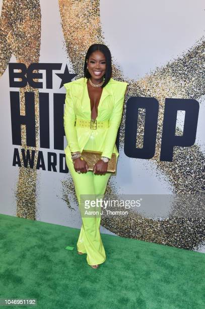Juju arrives to the BET Hip Hop Awards at the Fillmore Miami Beach on October 6 2018 in Miami Beach Florida