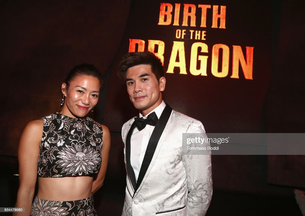 Juju Chan and Phillip Ng attend the special screening WWE Studios' 'Birth Of The Dragon' After Party on August 17, 2017 in Hollywood, California.