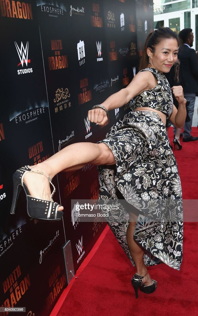 Juju Chan attends the Premiere Of WWE Studios' 'Birth Of The Dragon' at ArcLight Hollywood on August 17, 2017 in Hollywood, California.