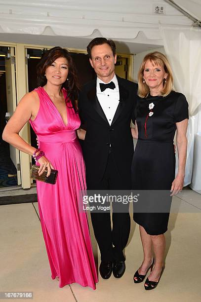 Juju Chang Tony Goldwyn and Martha Raddatz attend ABC News Yahoo News Univision PreWhite House Correspondents Dinner cocktail reception at Washington...