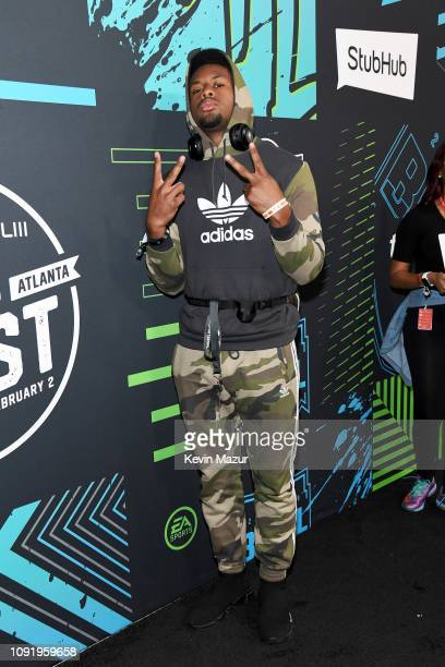 JuJu SmithSchuster attends Bud Light Super Bowl Music Fest / EA SPORTS BOWL at State Farm Arena on January 31 2019 in Atlanta Georgia