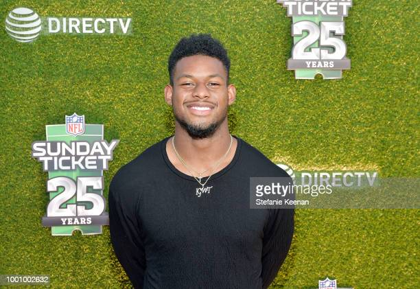 JuJu SmithSchuster attends DIRECTV CELEBRATES 25th Season of NFL SUNDAY TICKET at Nomad Hotel Los Angeles on July 17 2018 in Los Angeles California