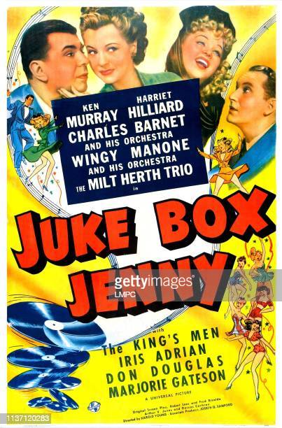 Juke Box Jenny poster US poster top from left Ken Murray Harriet Hilliard Iris Adrian Donald Douglas 1942
