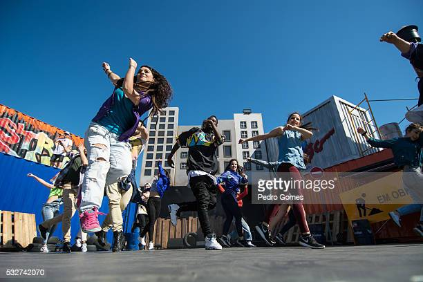 Jukebox Crew Bootcamp performing on the street dance stage at Rock in Rio on May 19 2016 in Lisbon Portugal