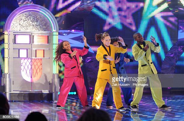 Jukebox Juniors perform during the first semi final of Sky 1's Got To Dance, at Maidstone Studios in Kent.