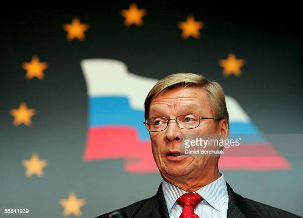 Jukka Harmala, CEO Stora Enso from the EU, speaks during the first plenary meeting of the 7th General Meeting of the EU-Russia Industrialists'...