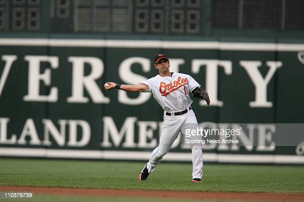 Jul 14 2006 Baltimore MD USA Philadelphia Phillies against Baltimore Orioles BRIAN ROBERTS at Orioles Park at Camden Yards in Baltimore Md on June 28...