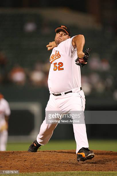 Jul 14 2006 Baltimore MD USA Philadelphia Phillies against Baltimore Orioles CHRIS BRITTON at Orioles Park at Camden Yards in Baltimore Md on June 28...
