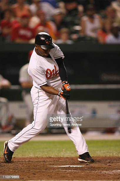 Jul 14 2006 Baltimore MD USA Philadelphia Phillies against Baltimore Orioles MELVIN MORA at Orioles Park at Camden Yards in Baltimore Md on June 28...