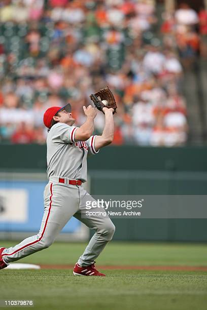 Jul 14 2006 Baltimore MD USA Philadelphia Phillies David Bell against Baltimore Orioles at Orioles Park at Camden Yards in Baltimore Md on June 28...