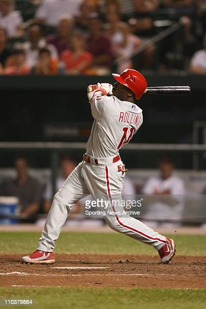 Jul 14 2006 Baltimore MD USA Philadelphia Phillies JIMMY ROLLINS against Baltimore Orioles at Orioles Park at Camden Yards in Baltimore Md on June 28...