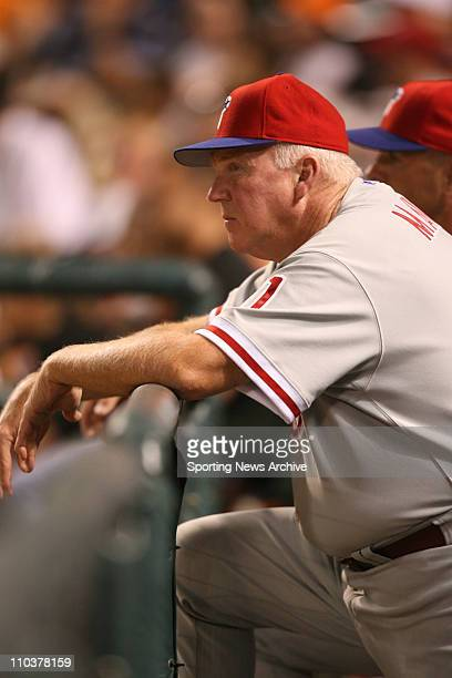 Jul 14 2006 Baltimore MD USA Philadelphia Phillies manager CHARLIE MANUEL against Baltimore Orioles at Orioles Park at Camden Yards in Baltimore Md...