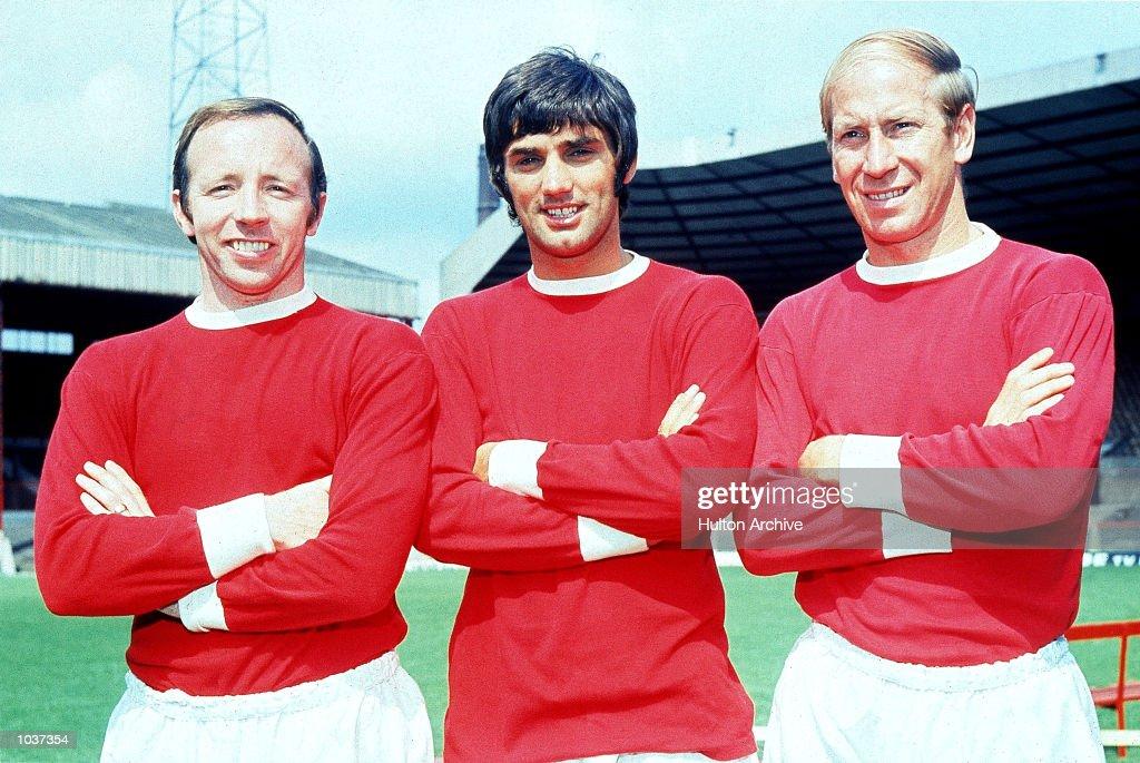 Nobby Stiles, George Best and Bobby Charlton : News Photo