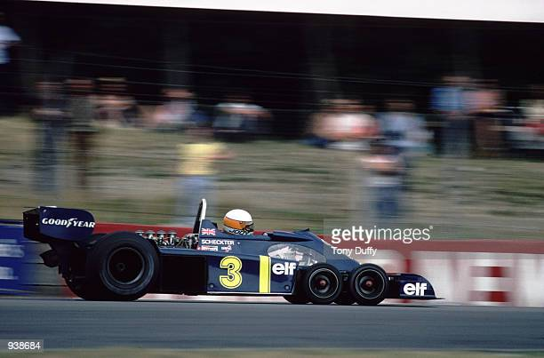 ElfTyrrell driver Jody Sheckter of South Africa in action during the Race of Champions British Formula One Grand Prix held at Brands Hatch in Kent...