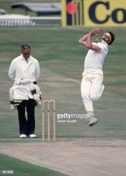Dennis Lillee of Australia bowls during the 3rd Ashes Test match between England and Australia at Headingley in Leeds England England won by 18 runs...