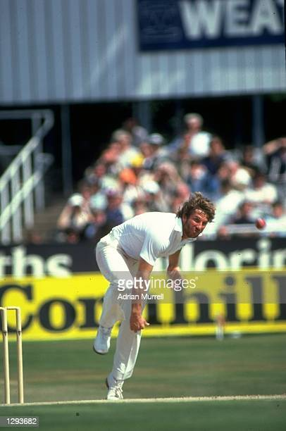 Ian Botham of England bowls during the Third Ashes Test match against Australia at Headingley in Leeds England England won the match by 18 runs...
