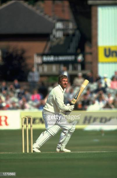 Ian Botham of England hits a four during his innings of 149 not out in the Third Ashes Test match against Australia at Headingley in Leeds England...