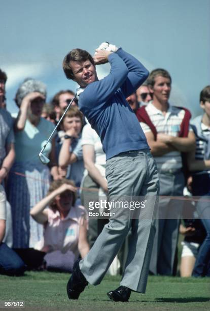 Tom Watson of the USA in action during the British Open played at Royal Troon in Scotland Mandatory Credit Bob Martin /Allsport