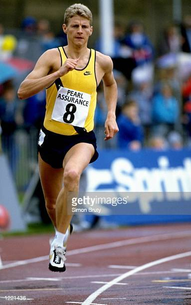 Steve Cram of Great Britain in action during a Track event at the International Stadium in Gateshead England Mandatory Credit Simon Bruty/Allsport