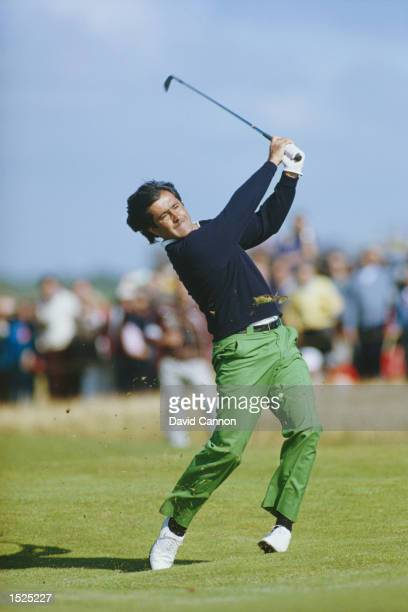 Seve Ballesteros in full cry during the British Open at Royal Lytham St Annes Golf Course in England Ballesteros went on to win the Open title...