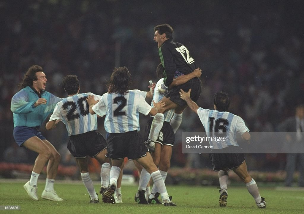 Argentine players celebrate : News Photo