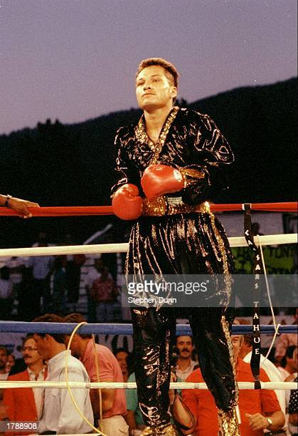 Tony Lopez looks on before a fight against Lupe Gutierrez at Lake Tahoe Mandatory Credit Stephen Dunn /Allsport