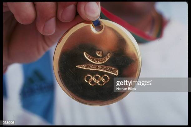 A gold medal from the 1992 Summer Olympic Games in Barcelona Spain Mandatory Credit Nathan Bilow/Allsport