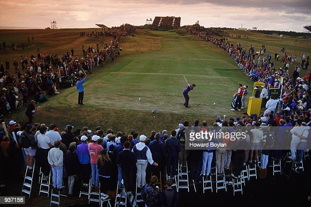 Nick Faldo of England at the 13th tee during the final round of the British Open at Muirfield in Scotland Mandatory Credit Howard Boylan/Getty Images