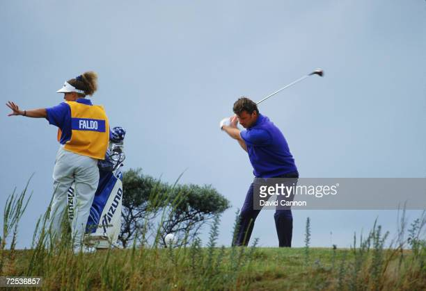 Nick Faldo of England at the 5th tee during the final round of the British Open at Muirfield in Scotland Mandatory Credit David Cannon/Getty Images