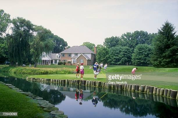 A general view of the sixth hole of the Crooked Stick Golf Course in Carmel Indiana during the 1993 US Womens Open Mandatory Credit Gary Newkirk...