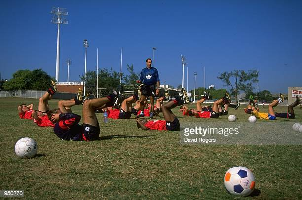 Arsenal manager George Graham in charge of a training session in Durban South Africa Mandatory Credit Dave Rogers /Allsport