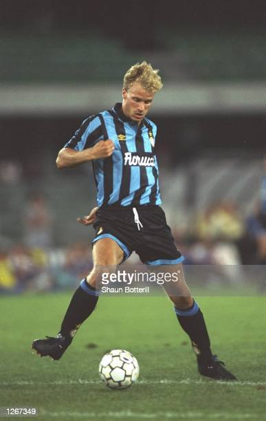 Dennis Bergkamp of Inter Milan in action during a match Mandatory Credit Shaun Botterill/Allsport