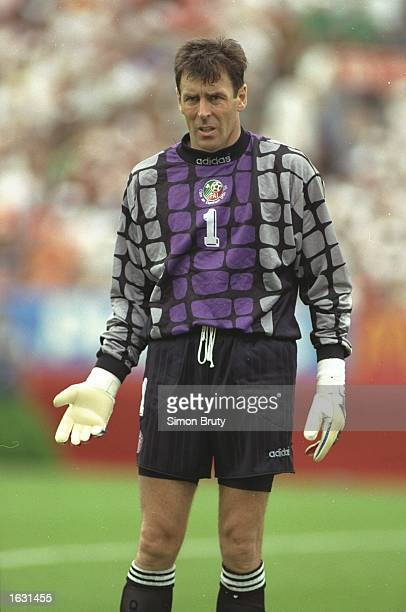 Portrait of Ireland goalkeeper Pat Bonner during the World Cup Second Round match against Holland at the Citrus Bowl in Orlando Florida USA Holland...