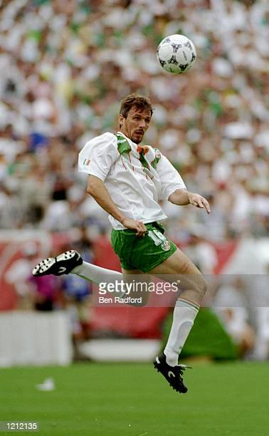 Tony Cascarino of the Republic of Ireland in action during the World Cup second round match against Holland at the Citrus Bowl in Orlando Florida USA...