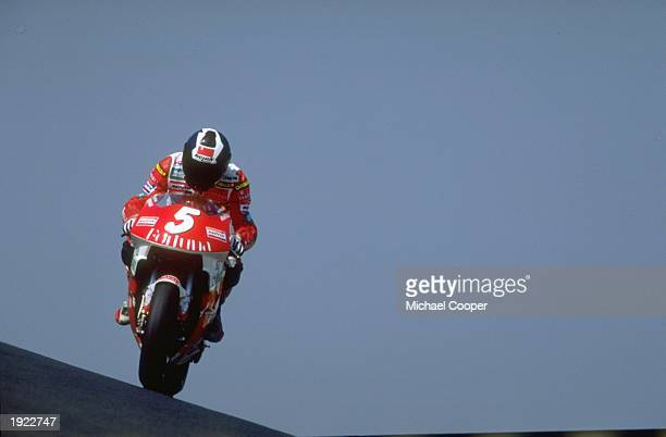 Alberto Puig of Spain in action on his Honda during the French Grand Prix at Le Mans circuit in France Mandatory Credit Mike Cooper/Allsport