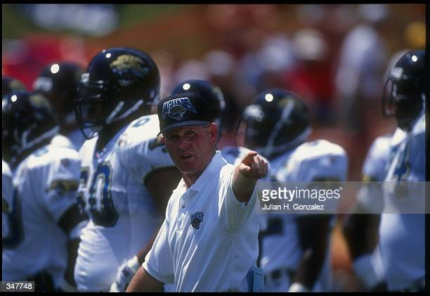 Jacksonville Jaguars head coach Tom Coughlin looks on during the Hall of Fame Game against the Carolina Panthers in Canton Ohio The Panthers won the...