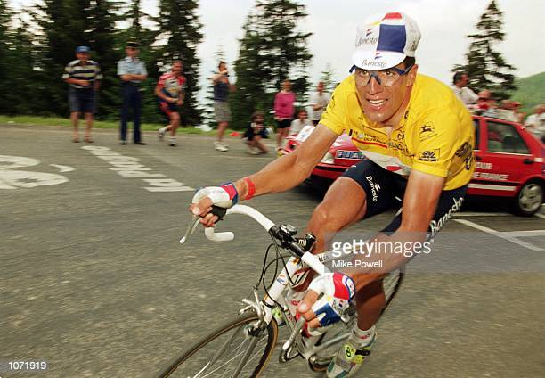 Miguel Indurain of Spain in action during stage two of the Tour de France in France Mandatory Credit Mike Powell /Allsport