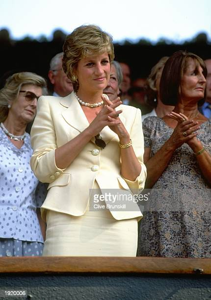 Portrait of Diana Princess of Wales during the Lawn Tennis Championships at Wimbledon in London Mandatory Credit Clive Brunskill/Allsport