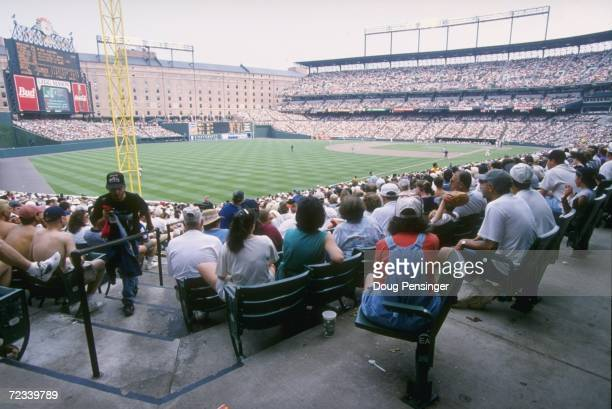 General view of Oriole Park at Camden Yards during an Orioles 4-1 loss to the New York Yankees in Baltimore, Maryland. Mandatory Credit: Doug...