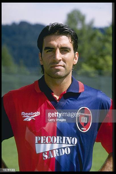A portrait of Marco Sanna of Cagliari football club Mandatory Credit Allsport UK