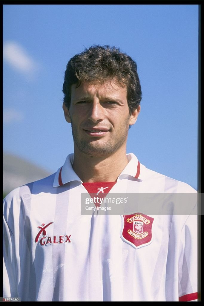 A portrait of Massimiliano Allegri of Perugia : News Photo