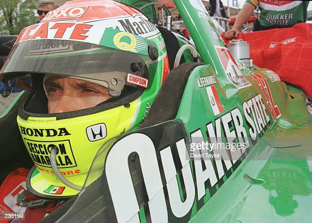 Adrian Fernandez of Mexico in the Tasman MotorsportsLola Honda T96/00 during practice for the Molson Indy round eleven of the PPG IndyCar World...