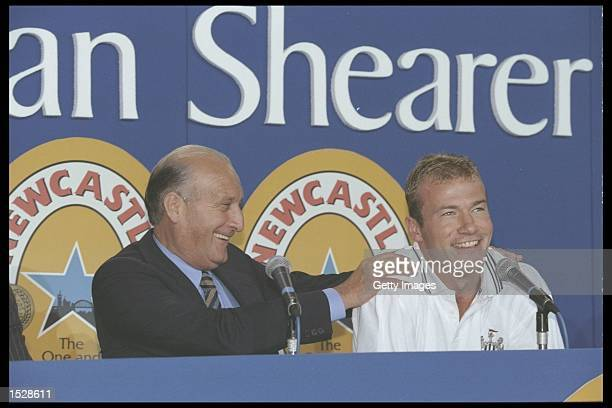 Alan Shearer of Newcastle United during his press Conference at St James'' Park in Newcastle Mandatory Credit Anton Want/Allsport UK