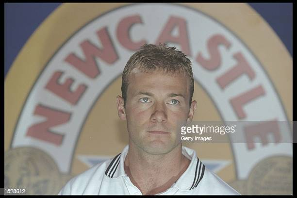 Alan Shearer of Newcastle United during his press Conference at St. James'' Park in Newcastle. Mandatory Credit: Anton Want/Allsport UK