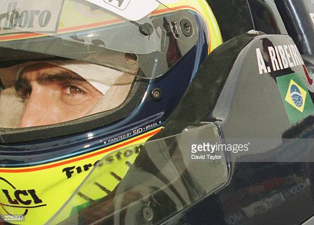 Andre Ribeiro of Brazil in the Tasman Motorsports Lola Honda T96/00 keeps his eyes on the prize and takes pole position during qualifying for the...