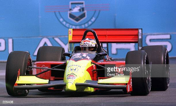 Andre Ribeiro of Brazil in the Tasman Motorsports Lola Honda T96/00 during qualifying for the Molson Indy Round eleven of the PPG IndyCar World...