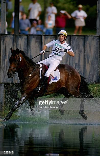Australian Andrew Hoy competing in the individual equestrian endurance test at the Georgia International horse park 1996 Centennial Olympic Games in...